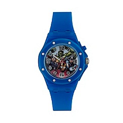 The Avengers - Boys Disney Avengers flashing blue watch with avengers dial