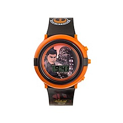 Star Wars - Boys Disney flashing Star Wars dial with printed strap watch