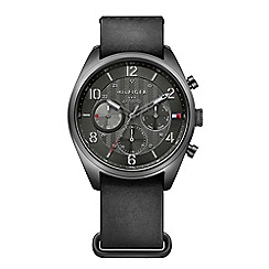 Tommy Hilfiger - Mens chronograph watch with black dial