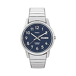 Timex - Men's easy reader blue dial with expansion band watch