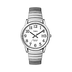 Timex - Men's easy reader white dial with expansion band watch t2h451