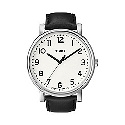 Timex - Men's oversized originals white dial with black strap watch