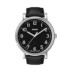 Timex - Men's oversized originals black dial with black strap watch