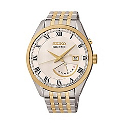 Seiko - Mens 'Kinetic retrograde' two tone bracelet watch