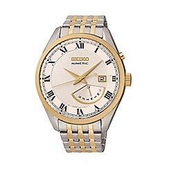 Seiko - Mens 'Kinetic retrograde' two tone bracelet watch