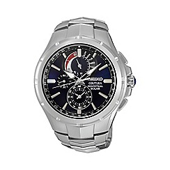 Seiko - Mens 'Coutura perpetual solar' silver bracelet watch ssc375p9