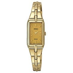 Seiko - Women's solar gold bracelet watch