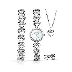 Sekonda - Ladies 5 piece infinite heart style gift set
