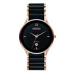 Roamer - Men's ceraline sapphira black/rose gold ceramic bracelet watch