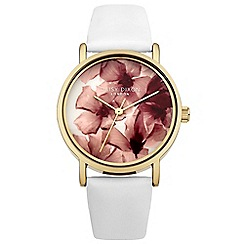 Daisy Dixon - Ladies white leather strap watch