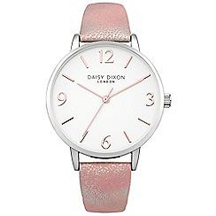 Daisy Dixon - Ladies pink metallic strap watch