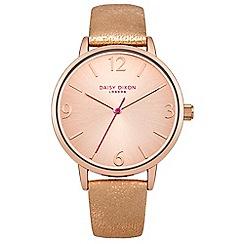 Daisy Dixon - Ladies rose gold metallic strap watch