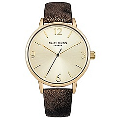 Daisy Dixon - Ladies black and gold metallic strap watch