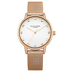 Daisy Dixon - Ladies rose gold tone mesh strap watch
