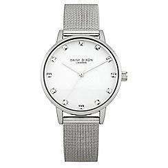 Daisy Dixon - Ladies silver tone mesh strap watch