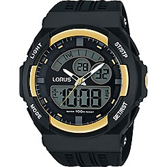 Lorus - Gents analogue/digital resin strap watch r2390jx9