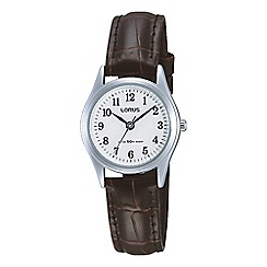 Lorus - Ladies brown leather strap watch