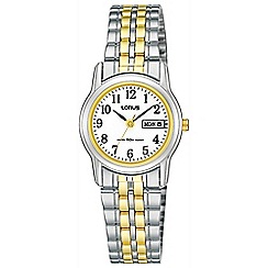 Lorus - Ladies two tone bracelet watch rxu11ax9