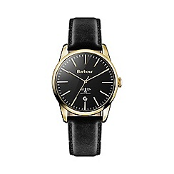 Barbour - Women's 'Leighton' black leather strap watch