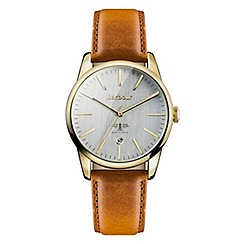 Barbour - Unisex 'Leighton' tan leather strap watch