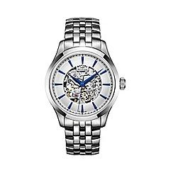 Rotary - Men's silver 'Skeleton' bracelet watch