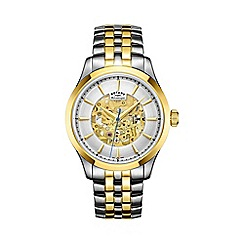 Rotary - Men's two tone 'Skeleton' watch