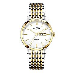 Rotary - Men's two tone silver and gold watch