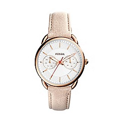 Fossil - Ladies brown leather 'Tailor' watch es4007