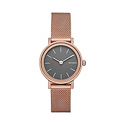 Skagen - Ladies rose gold 'Hald' watch skw2470