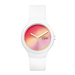 Lacoste - Unisex white 'Goa' pink sunray watch 2020107