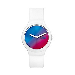 Lacoste - Unisex white 'Goa' blue sunray watch 2020109