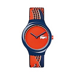 Lacoste - Unisex orange and navy 'Goa' watch 2020113