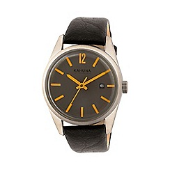 Kahuna - Men's grey and orange dial watch