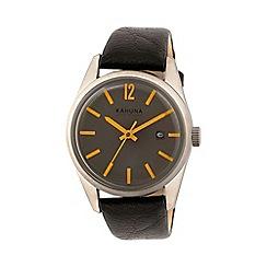 Kahuna - Men's grey and orange dial watch