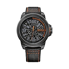 Boss Orange - Men's textured dial nylon strap watch