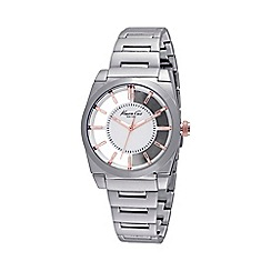 Kenneth Cole - Ladies silver transparent dial bracelet watch