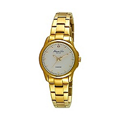 Kenneth Cole - Ladies gold and white dial bracelet watch
