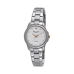 Kenneth Cole - Ladies silver and white dial bracelet watch