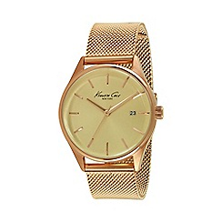 Kenneth Cole - Ladies rose gold mesh bracelet watch kc10029400