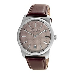 Kenneth Cole - Men's brown leather watch