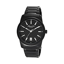Kenneth Cole - Men's black dial bracelet watch
