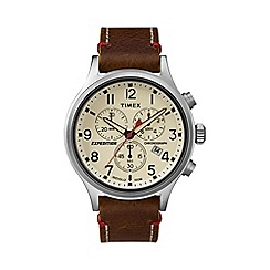 Timex - Men's brown 'Expedition Scout' chronograph watch