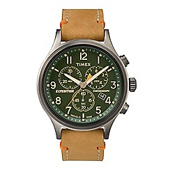 Timex - Men's light brown 'Expedition Scout' chronograph watch