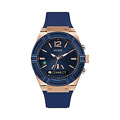 Guess - Gents large blue 'Connect' Smartwatch