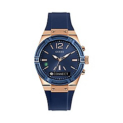 Guess - Unisex small blue 'Connect' Smartwatch