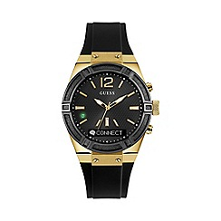 Guess - Unisex black and gold 'Connect' Smartwatch