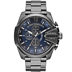Diesel - Men's gunmetal grey bracelet watch