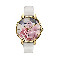 Ted Baker - Ladies whitel leather strap watch