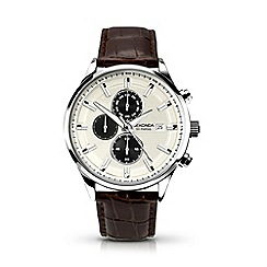 Sekonda - Gents brown leather strap watch 1177.28