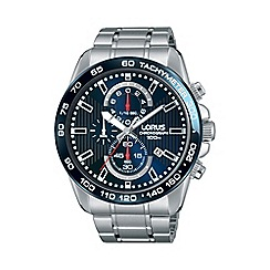 Lorus - Men's blue chronograph bracelet watch rm375cx9